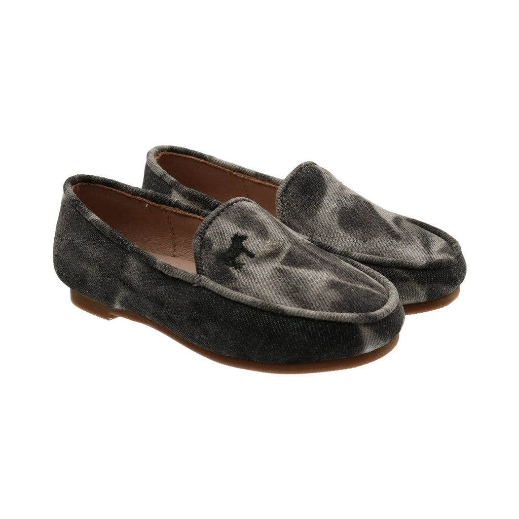 Zeebra Kids Shoes Jellybeanzkids Zeebra Black Denim Tie Dye Loafer