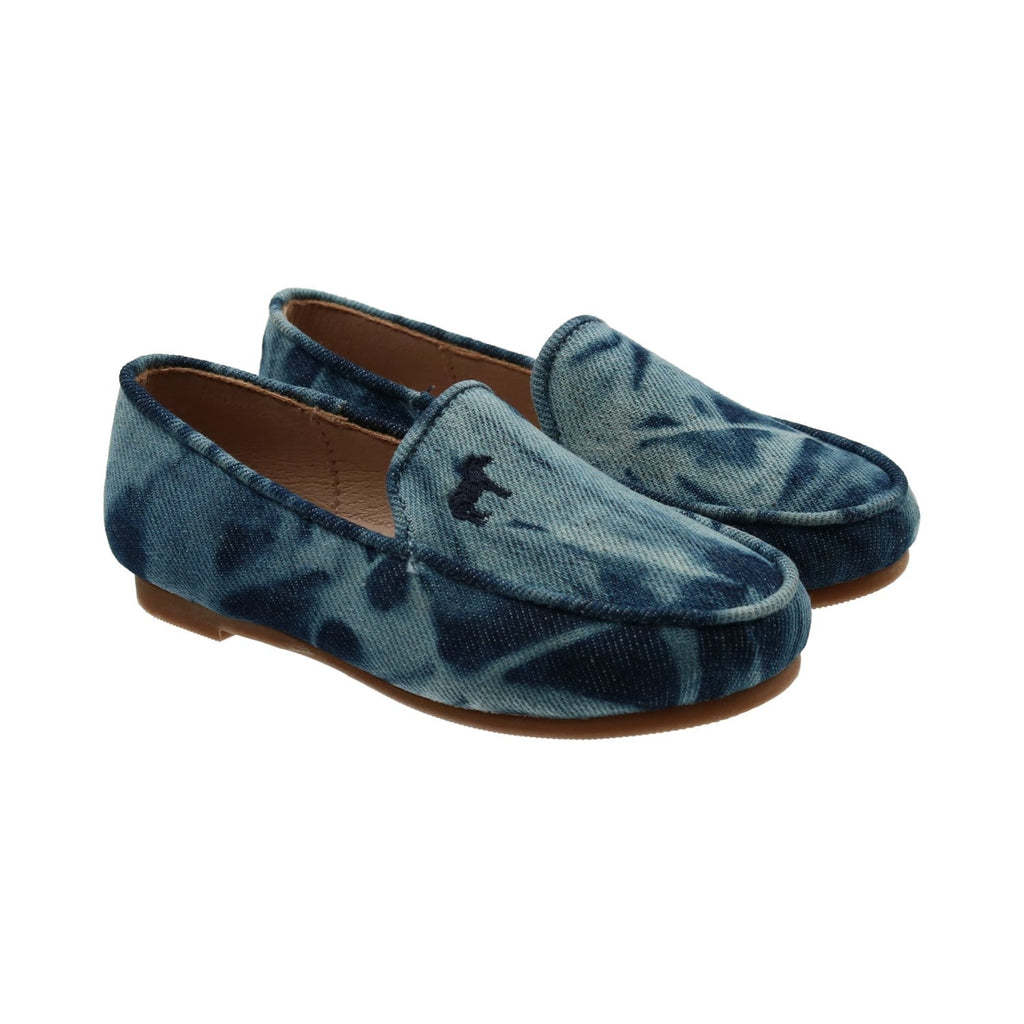 Zeebra Kids Shoes Jellybeanzkids Zeebra Blue Denim Tie Dye Loafer