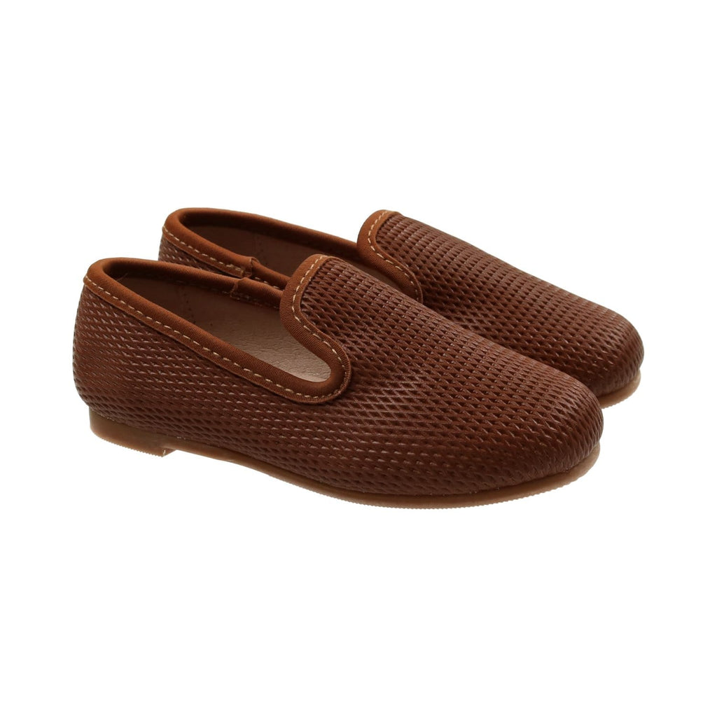 Zeebra Kids Shoes Jellybeanzkids Zeebra Classic Walnut Loafer