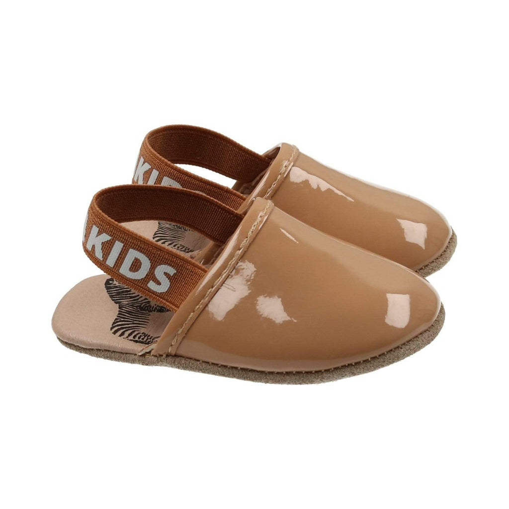 Zeebra Kids Shoes Jellybeanzkids Zeebra Oak Logo Slipper