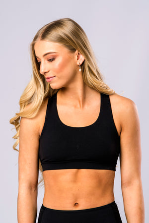 Double Up Sports Bra (Black)