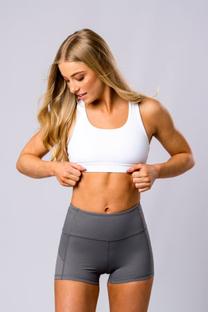 Double Up Sports Bra (White)