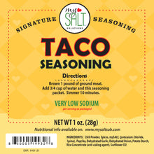 Load image into Gallery viewer, Taco Seasoning Mix Very Low Sodium