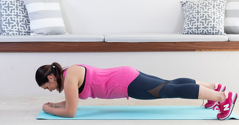 nacre at home workout no equipment plank