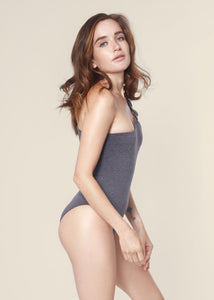 Chloe Bodysuit - Heather Grey - Nacre