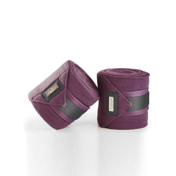 Equestrian Stockholm Plum Fleece Bandages
