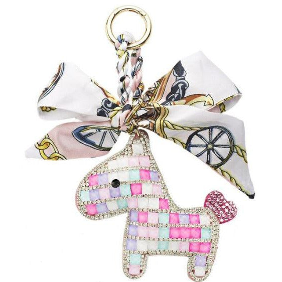 Someh Crystal Pony Key Ring - Multicolor