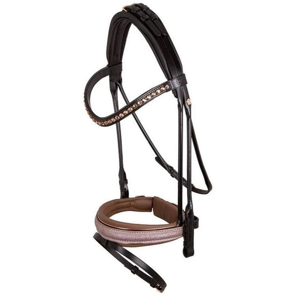 Otto Schumacher Munchen Rolled Snaffle Bridle - Ready to Wear - Full Size