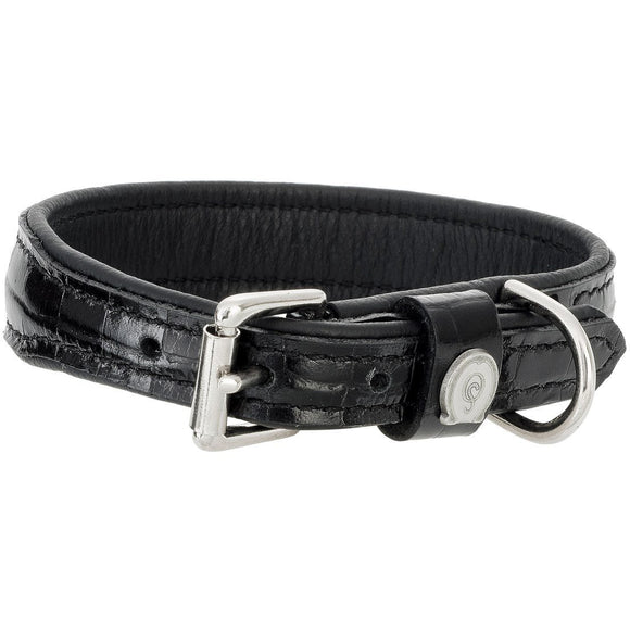 Otto Schumacher Leather Crystal Dog Collar