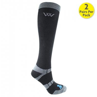 Woof Wear Long Bamboo Waffle Riding Sock