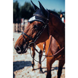 Equestrian Stockholm Midnight White Edge Fly Hood