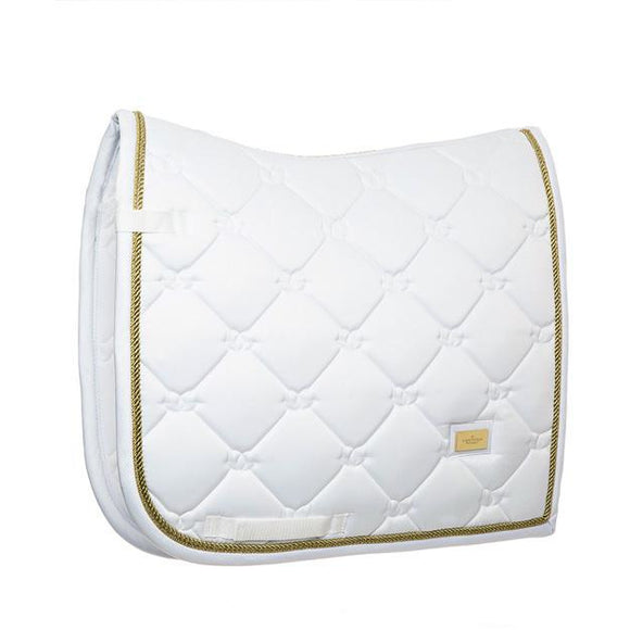 Equestrian Stockholm White Perfection Saddle Cloth - Gold