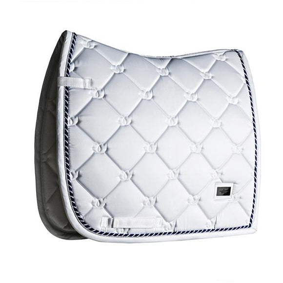 Equestrian Stockholm White Perfection Saddle Cloth - Navy