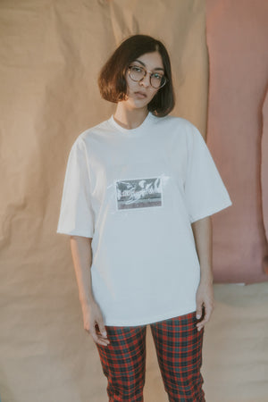 Souvenir Oversized T-Shirt Bone
