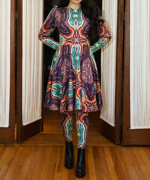 Vesica Piscis Knee Length Dress