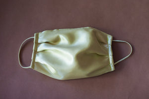 Pale Chartreuse Satin Mask