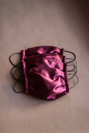 Deep Burgundy Heavyweight Satin Mask