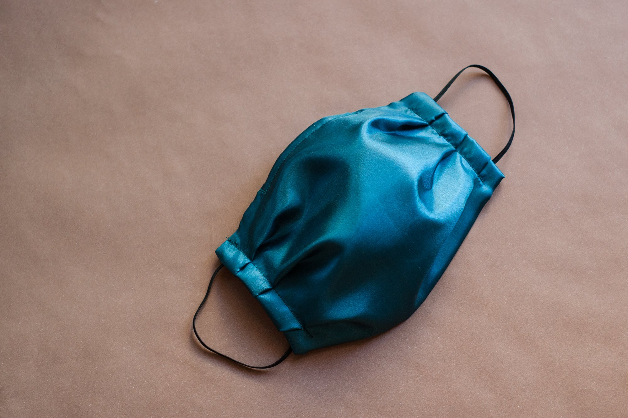 Deep Teal Blue Poly-Silk Mask