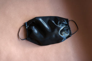 Black Heavyweight Satin Mask