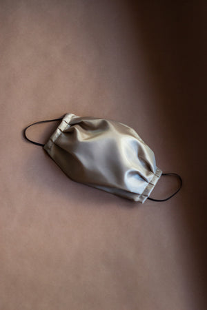 Pewter Poly-Silk Mask