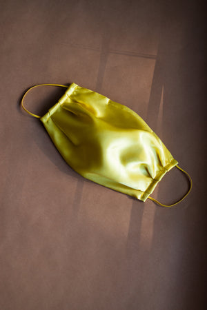 Canary Yellow Satin Mask