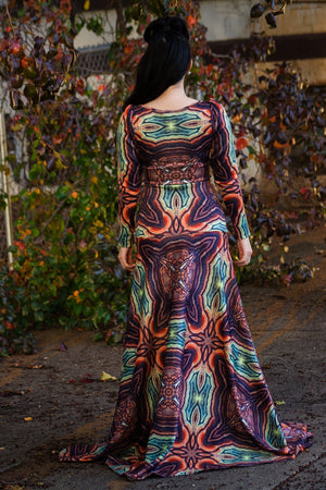 Delphina Fit and Flare Gown