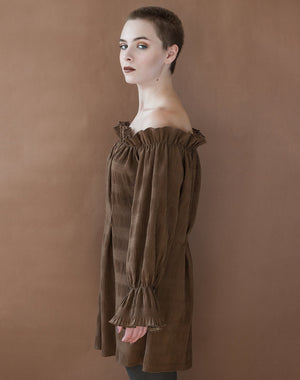 Sueded Prose Pleated Tunic