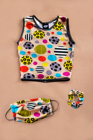 Zany Cropped Tank Top