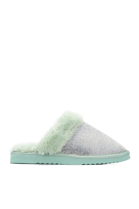 FAB FUZZY SLIPPERS - MINT