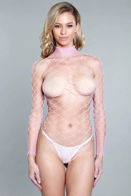 1909 Dancing All Night Bodystocking Pink