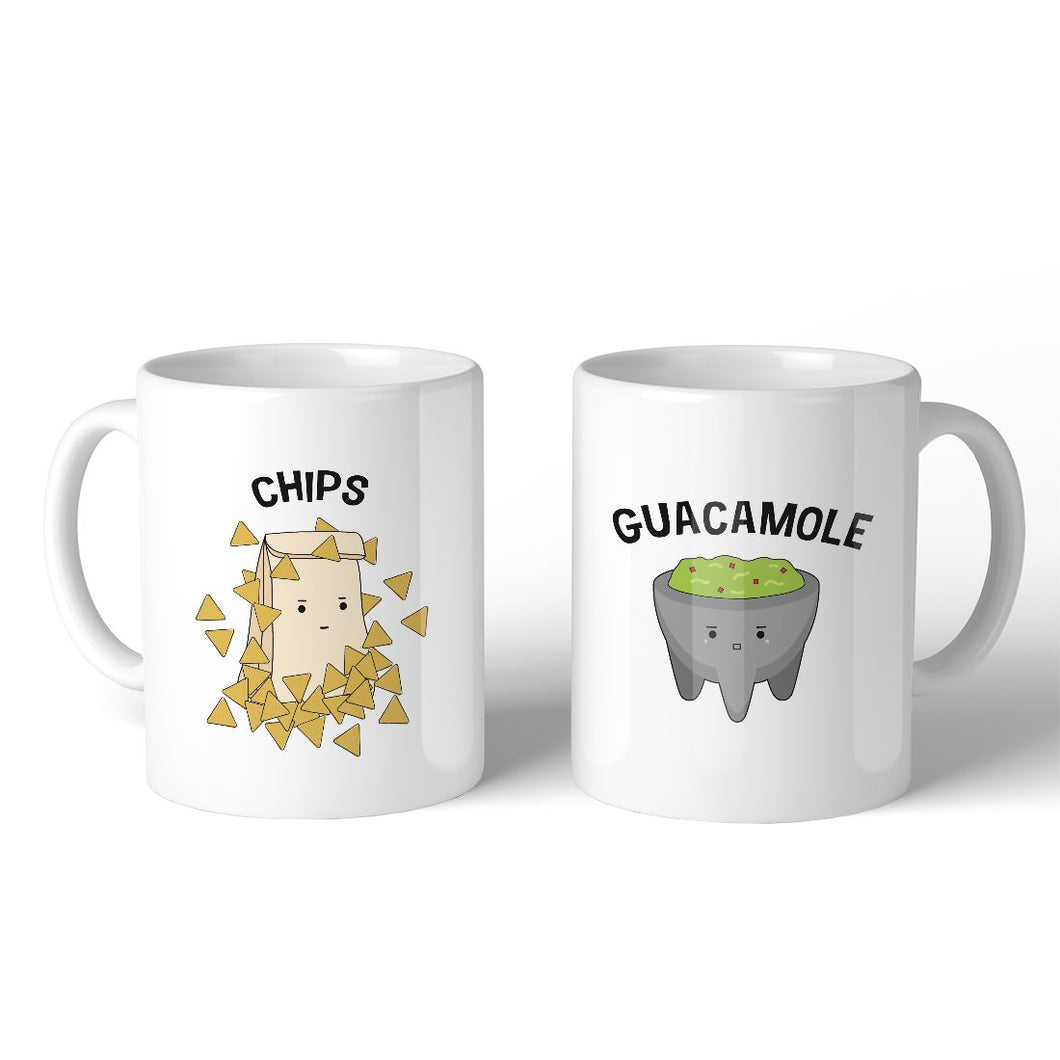 Chips And Guacamole Coffee Mugs Funny Matching Couple Gift Mugs