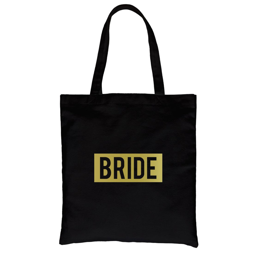 Bride Squad Boxed-GOLD Canvas Shoulder Bag Passionate Anniversary