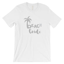 Load image into Gallery viewer, Beach Bride Babe Palm Tree-SILVER Mens T-Shirt Amazing Modern Gift