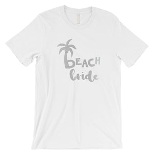 Beach Bride Babe Palm Tree-SILVER Mens T-Shirt Amazing Modern Gift