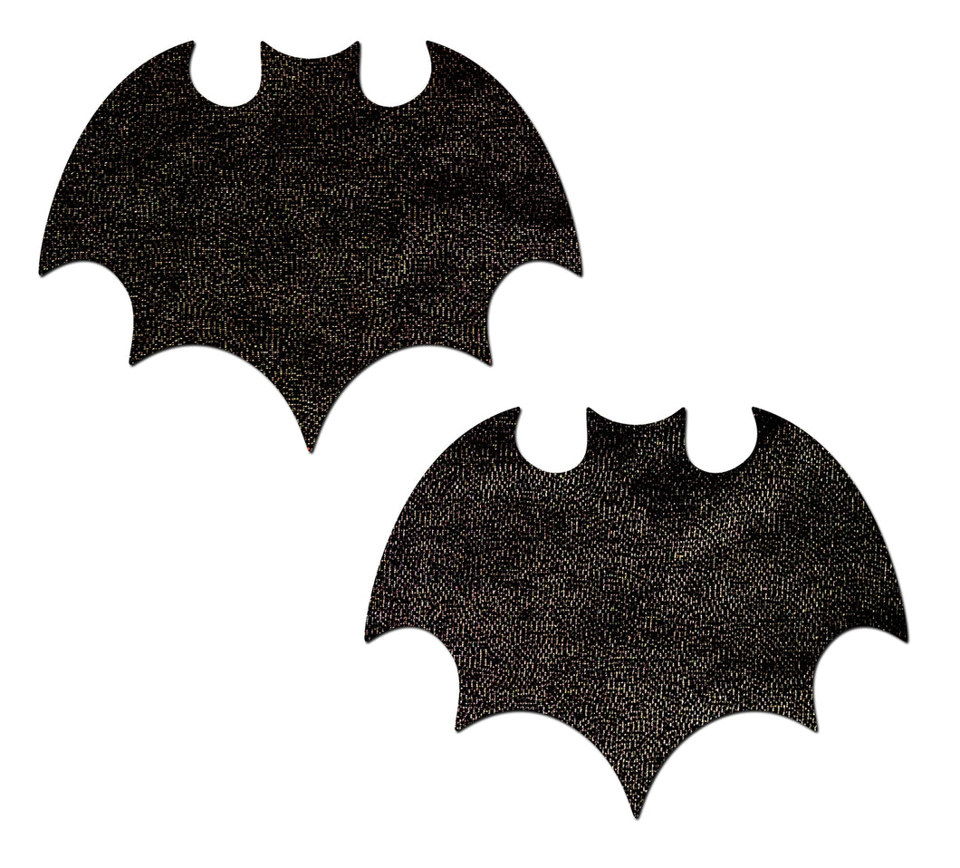 Pastease Liquid Black Bat Nipple Pasties