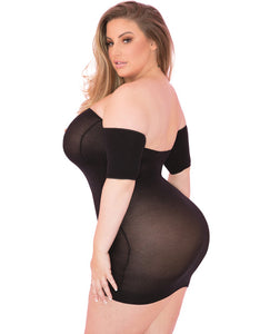All Night Dress Black - 1X