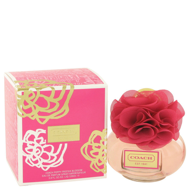 Coach Poppy Freesia Blossom by Coach Eau De Parfum Spray 3.4 oz for Women - Black Olive