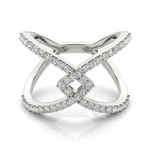 Load image into Gallery viewer, 14k White Gold Fancy Entwined Design Diamond Ring (1/2 cttw)