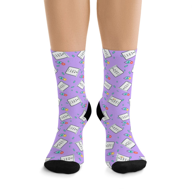 Products Eye Chart Socks