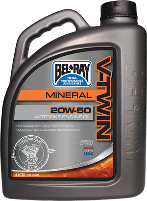 V-twin Mineral Engine Oil 20w-50 4l