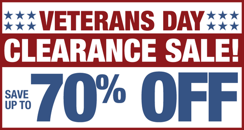 Veterans Day Clearance Sale! Save Up To 70% OFF!
