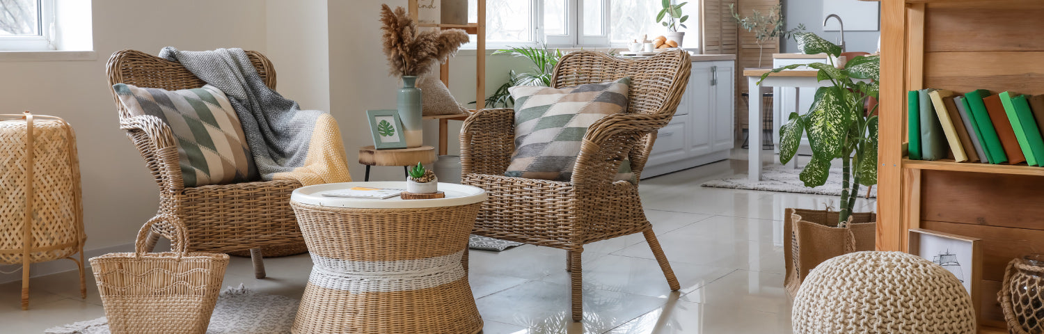 how to clean rattan or wicker furniture