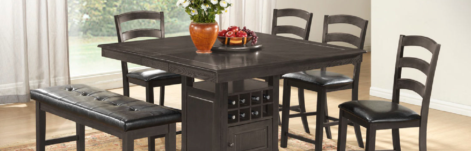 This table from the Mollai Collection includes storage which is great for small spaces.