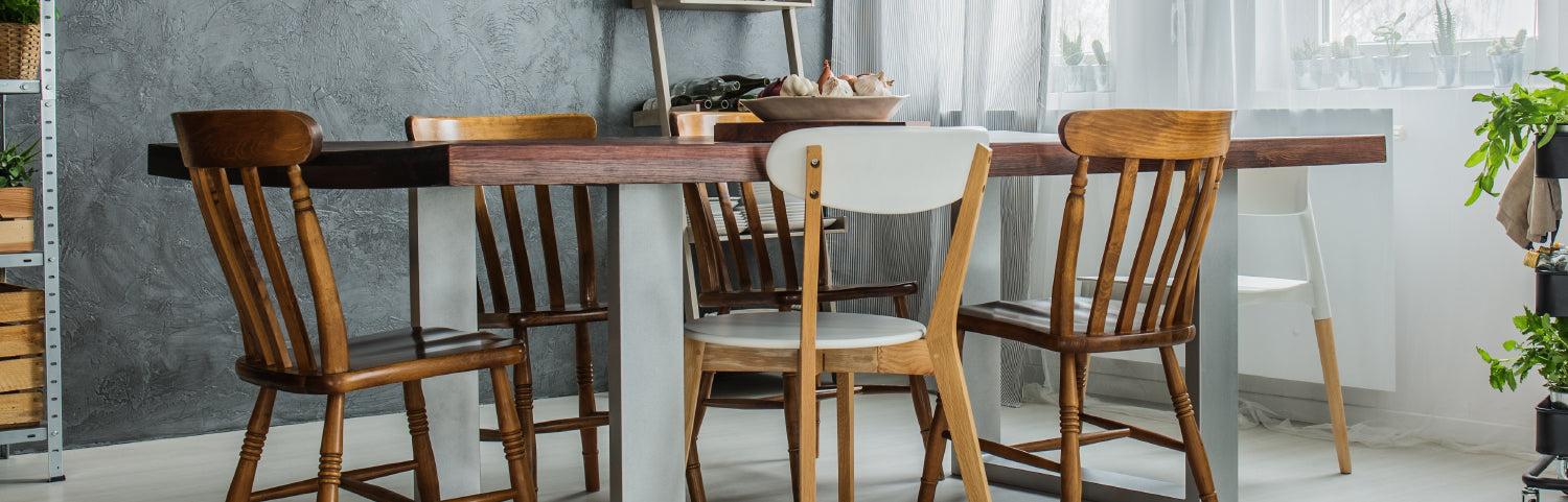 Choosing the right size chair for your dining table is essential for a comfortable dining room.