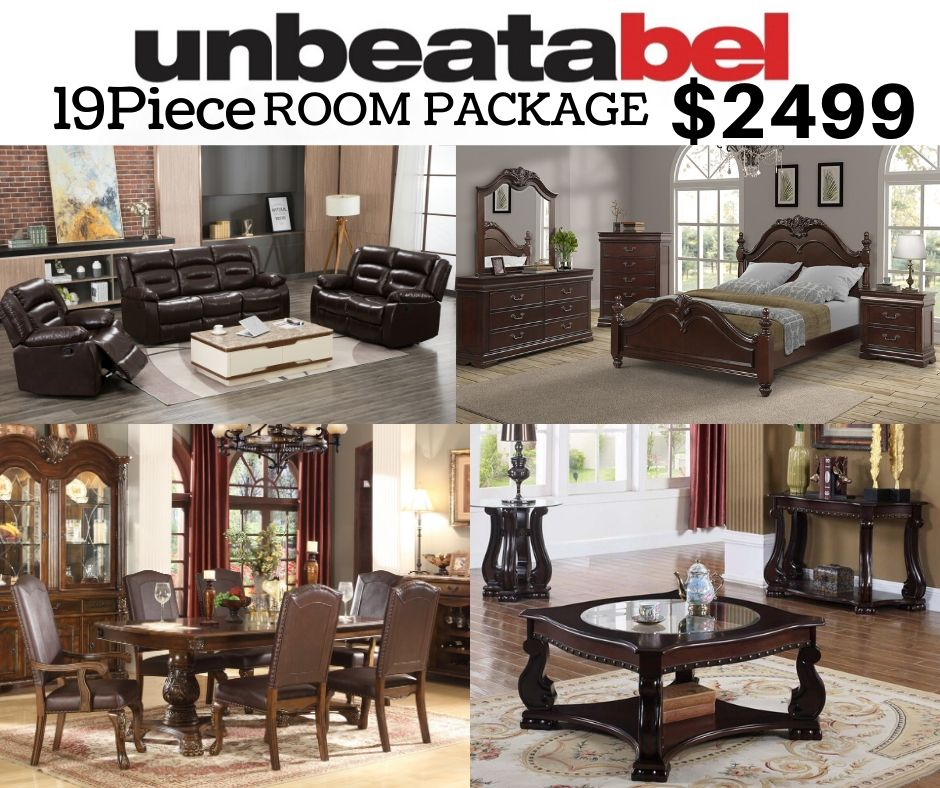 19 Piece Room Package $2499