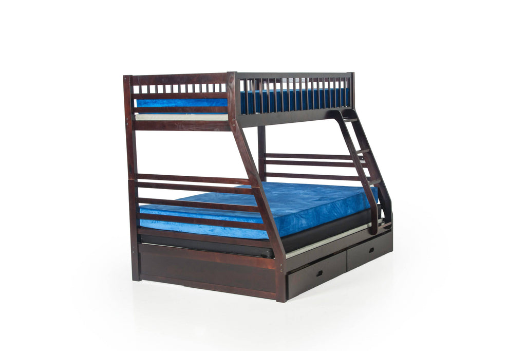 Twin Over Twin Bunk Bed With Trundle/Drawer Unit