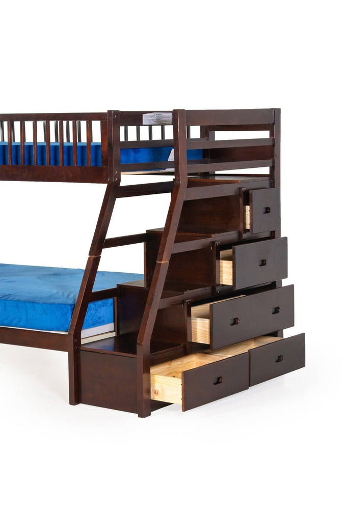 Twin over Full Bunk Bed Set