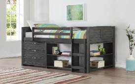 5Pc Twin Youth Loft Bed