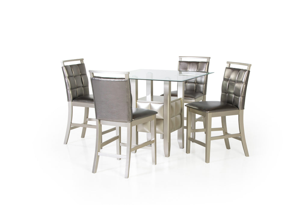 5Pc Pub Table Dining Set