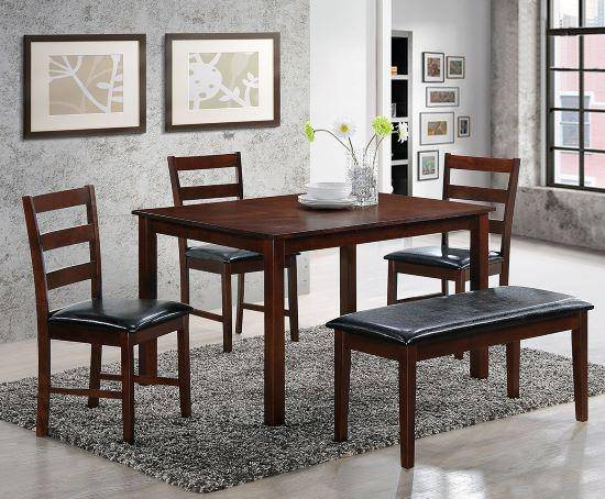 4Pc Dining Set Plus Bonus FREE Bench